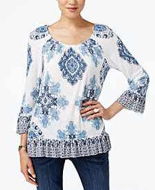 I.N.C. Ruffled Peasant Top, Created for Macy's