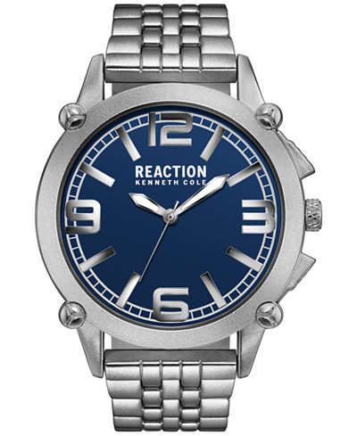 Kenneth Cole Reaction Men's Silver-Tone Bracelet Watch 49mm 10030949