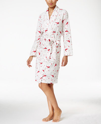 Charter Club Fleece Short Robe Only At Macy S Bras