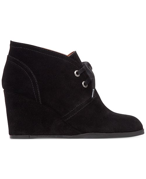 24a5eb58efb Lucky Brand Women s Seleste Lace-Up Wedge Booties   Reviews - Boots ...