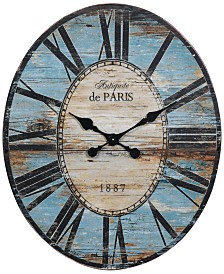 Oval Wall Clock