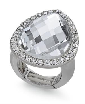 Thalia Sodi Silver-Tone Crystal Teardrop Stretch Ring, Created for Macy's