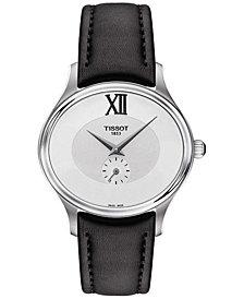 Tissot Women's Swiss Bella Ora Black Leather Strap Watch 31mm T1033101603300