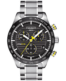 Tissot Men's Swiss Chronograph PRS 516 Stainless Steel Bracelet Watch 42mm T1004171105100