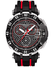 Tissot Men's Swiss Chronograph T-Race MotoGP Limited Edition 2016 Black & Red Rubber Strap Watch 45x47mm T0924172720700