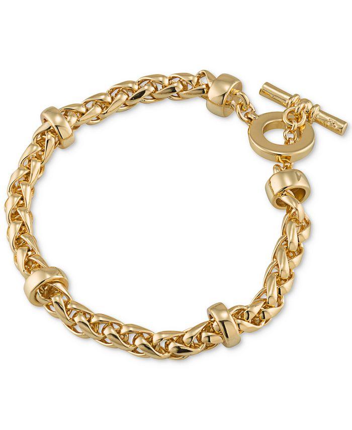 Lauren Ralph Lauren - Gold-Tone Heavy Chain Toggle Bracelet