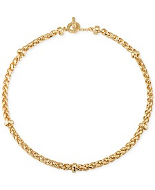 Lauren Ralph Lauren Gold-Tone Decorative Chain Collar Necklace
