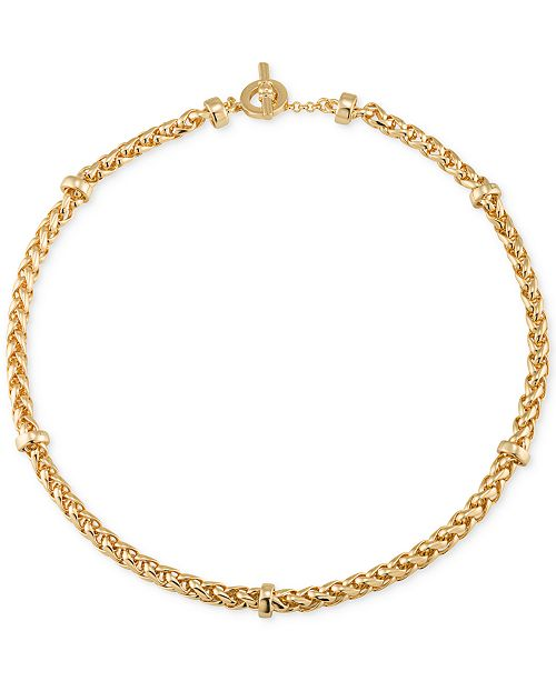 Lauren Ralph Lauren Gold-Tone Decorative Chain Collar Necklace