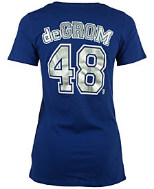 5th & Ocean Women's Jacob deGrom New York Mets Foil Player T-Shirt