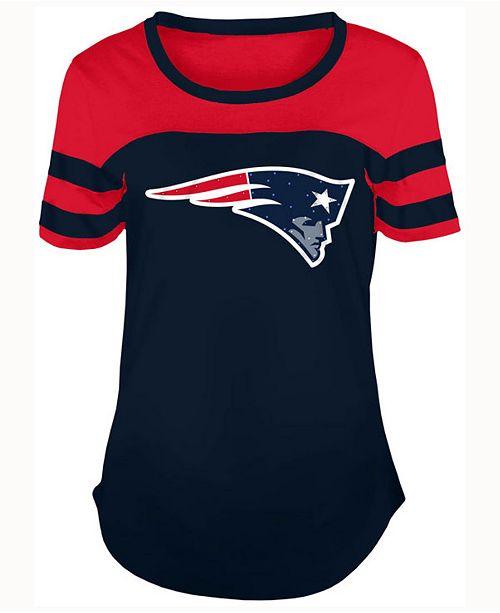 5th & Ocean Women's New England Patriots Limited Edition Rhinestone T-Shirt
