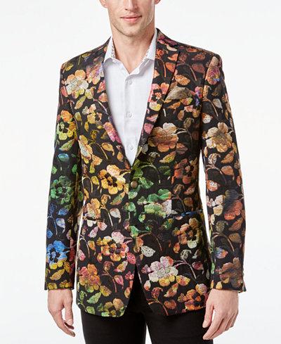 Tallia Men's Metallic Floral Blazer