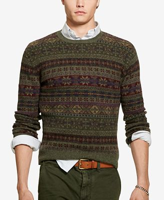 Polo Ralph Lauren Men's Fair Isle Sweater - Sweaters - Men - Macy's