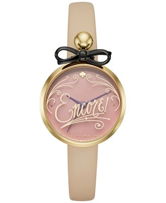 kate spade new york Women's Metro Vachetta Leather Strap Watch 26mm KSW1176