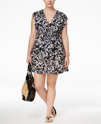 Lauren Ralph Lauren Plus Size Regent Floral Farrah Cover-Up