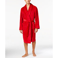 Family Pajamas Men's Super Soft Short Robe (Candy Red)