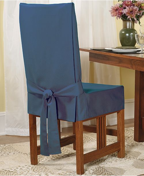 Fitted Dining Room Chair Covers: Sure Fit Short Dining Room Chair Slipcover