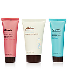 Receive 3 FREE Travel Size Moisturizers with any $50 Ahava Purchase (a $24 value!)