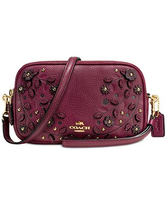 COACH Willow Floral Crossbody Clutch In Pebble Leather - Handbags U0026 Accessories - Macyu0026#39;s