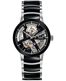 Rado Men's Swiss Automatic Centrix Open Heart Two-Tone Stainless Steel & High Tech Ceramic Bracelet Watch 38mm R30178152