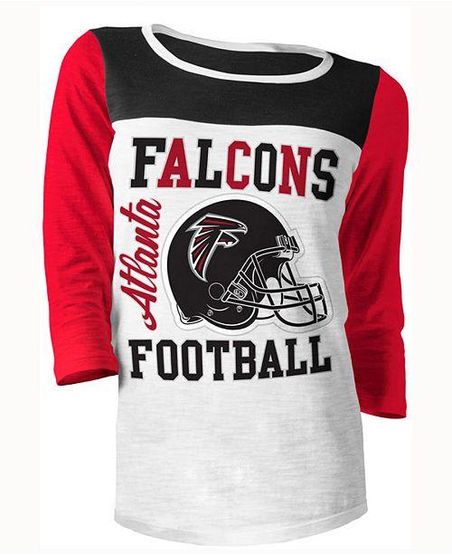 online store bc543 5cce8 5th & Ocean Women's Atlanta Falcons Three-Quarter Glitter T ...