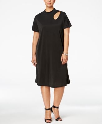 ING Trendy Plus Size Cutout Shift Dress