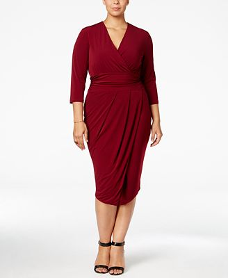 rachel rachel roy curvy trendy plus size draped dress - dresses