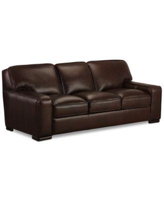 Leather Sofa Furniture zane leather sofa - furniture - macy's