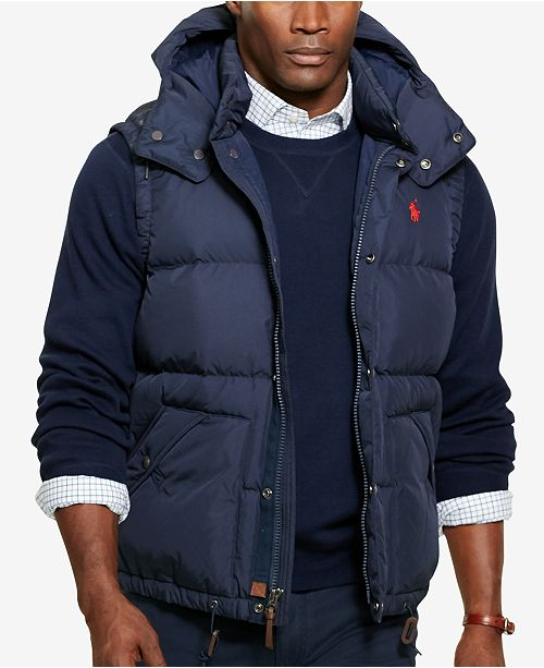Polo Ralph Lauren Men's Big & Tall Puffer Down Vest ...