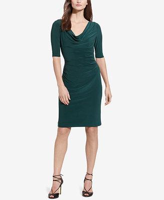 Lauren Ralph Lauren Cowlneck Jersey Dress Women Macy S
