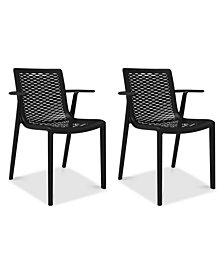 Netkat Set of 2 Indoor/Outdoor Armchairs, Quick Ship
