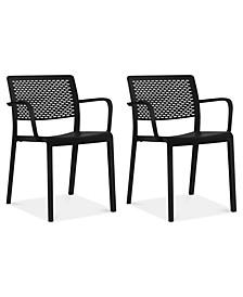 Trama Set of 2 Indoor/Outdoor Armchairs