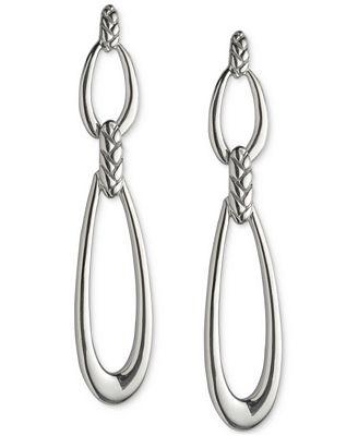 Nambé Braid Double Loop Earrings in Sterling Silver, Only at Macy's