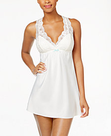 Flora by Flora Nikrooz Emma Lace-Trimmed Charmeuse Chemise