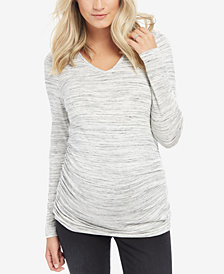 Motherhood Maternity Long-Sleeve Ruched Top