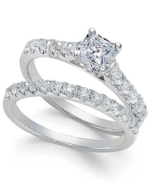 Diamond Princess Bridal Set (1 ct. t.w.) in 14k White Gold