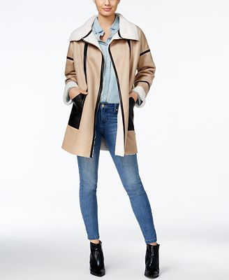 GUESS Acantha Faux-Shearling Coat