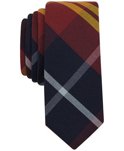 Original Penguin Men's Graves Plaid Slim Tie