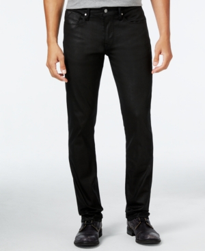 Guess Men's Slim-Straight Fit Stretch Coated Jeans