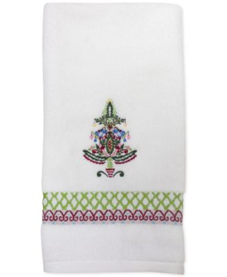 CLOSEOUT! Peppermint Twist Embroidered Hand Towel
