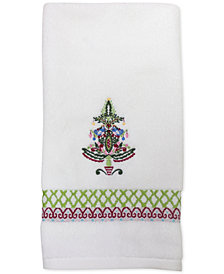 CLOSEOUT! Dena Peppermint Twist Embroidered Hand Towel
