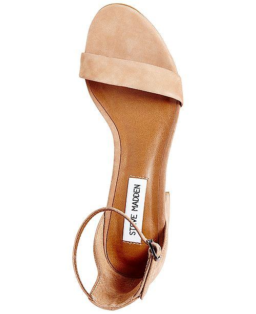 c65cd86bed0 Steve Madden Women s Irenee Two-Piece Block-Heel Sandals   Reviews ...