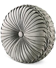 J. Queen New York Corinna Tufted Round Decorative Pillow