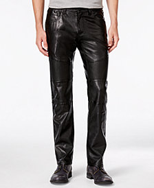 I.N.C. Men's Slim-Fit Faux Leather Pants, Created for Macy's