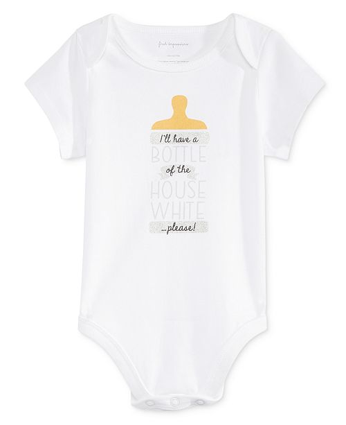 053be903 First Impressions Baby Boys & Girls House White Bodysuit, Created for Macy's