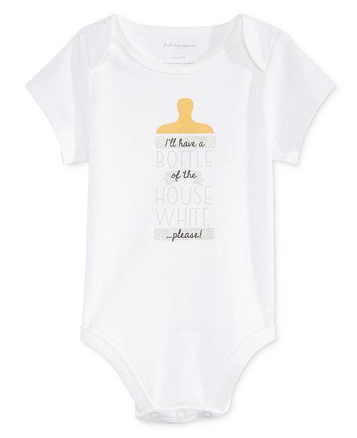 22ce3022fda First Impressions Baby Boys   Girls House White Bodysuit