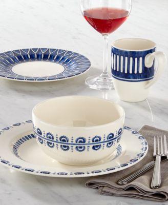 Dinnerware 16-Pc. Siena Blue Set, Service for 4