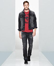 True Religion Men's Denim Jacket, Graphic T-Shirt & Moto Jeans