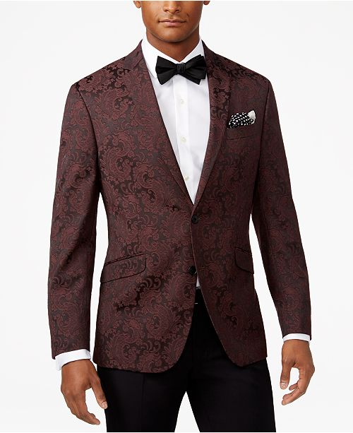 outlet online so cheap top-rated professional Kenneth Cole Reaction Men's Slim-Fit Burgundy Paisley Dinner ...