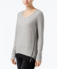 RACHEL Rachel Roy Side-Zip High-Low Top, Created for Macy's
