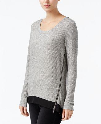 RACHEL ROY Side-Zip High-Low Top, Created for Macy's